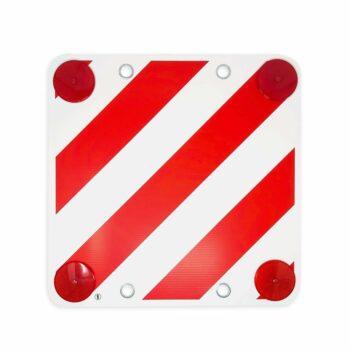 cartello in plastica con catadiottri per carico sporgente