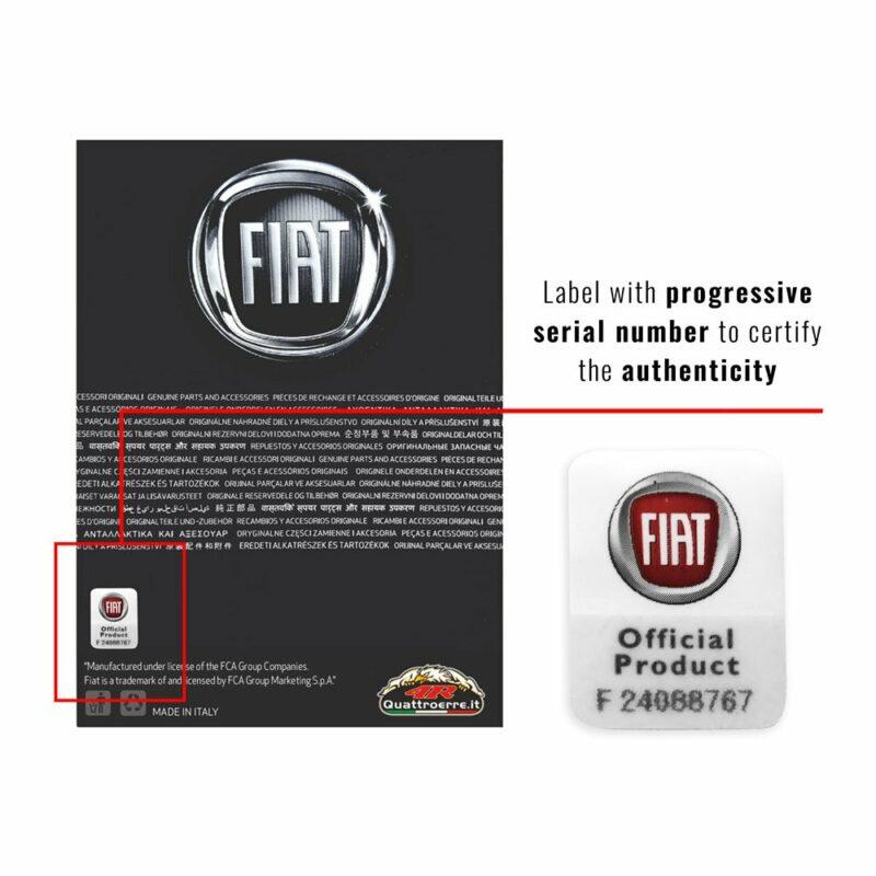 Cartoncino packaging grande prodotti Fiat etichetta numerata