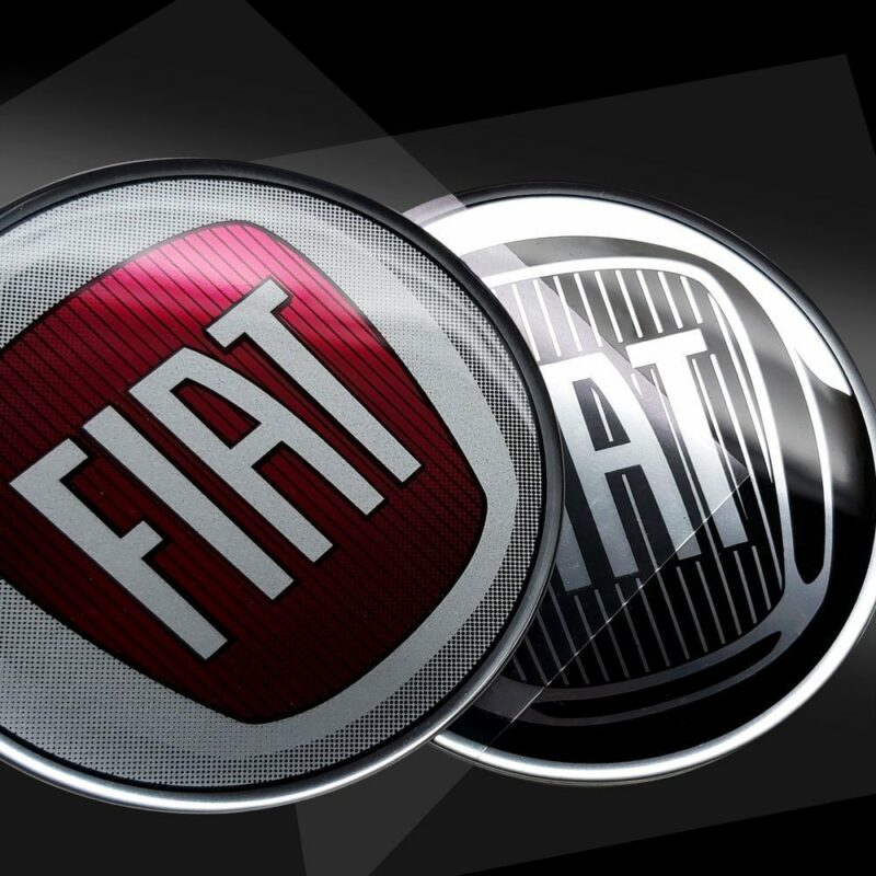 Adesivi tridimensionali Fiat dettaglio