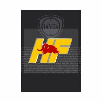 Adesivo 3D Lancia HF confezione fronte