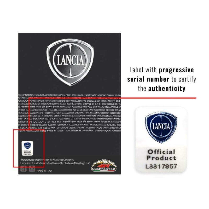 Cartoncino packaging grande prodotti Lancia etichetta numerata