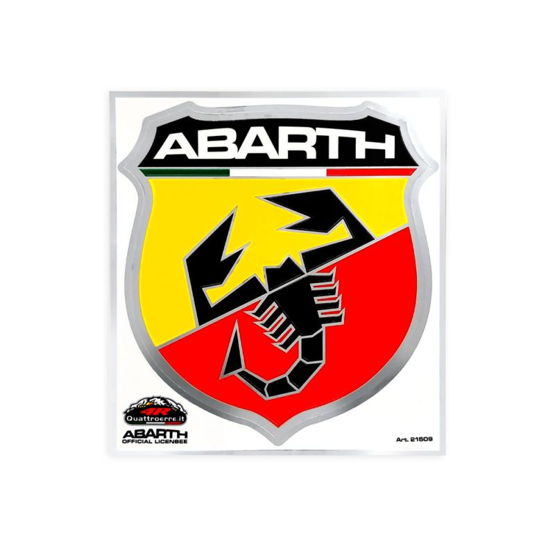 Tabella di adesivi Abarth scudetto gigante