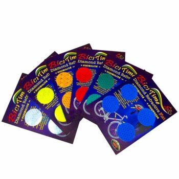 Adesivi rifrangenti cerchi varianti cromatiche