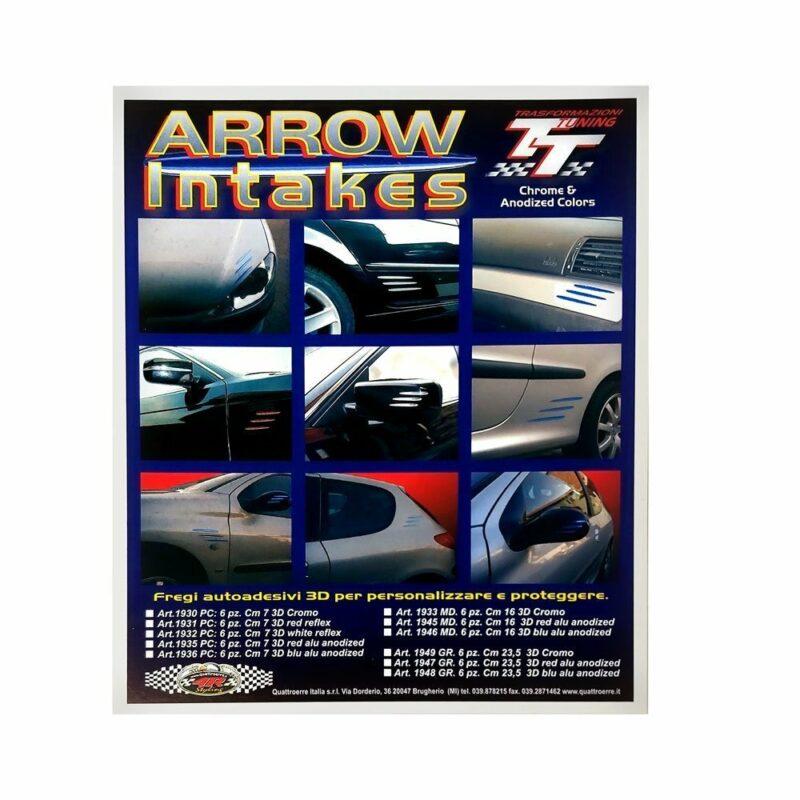 Fregi autoadesivi cromo Arrow Intakes confezione