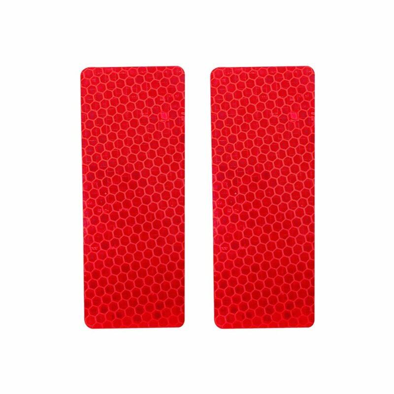 Adesivi rifrangenti per paraurti auto rossi