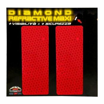 Rettangoli rifrangenti per bauletti moto, 2 pezzi, 10 x 5 cm, rosso