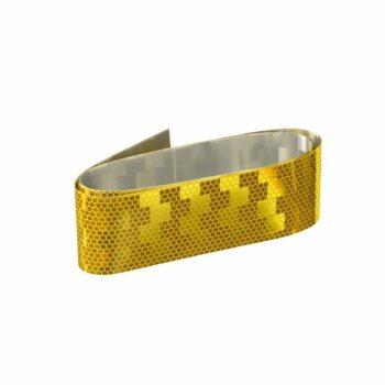 Rotolo adesivo rifrangente omologato giallo