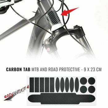 Kit Adesivo Protezione Telaio Bici Carbon, 9 x 23 cm