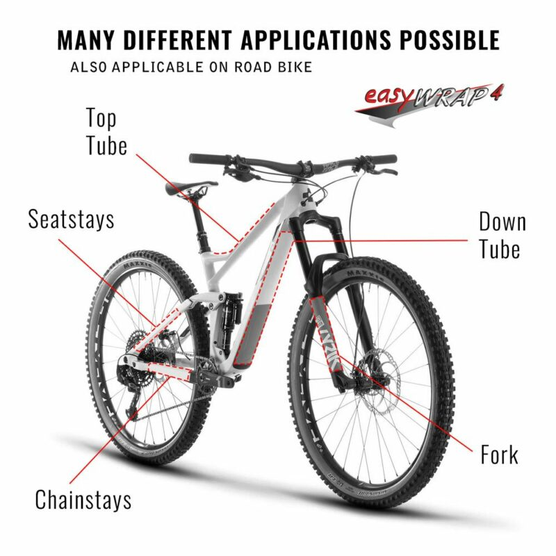 Protezione Telaio Bici Carbon punti applicazione