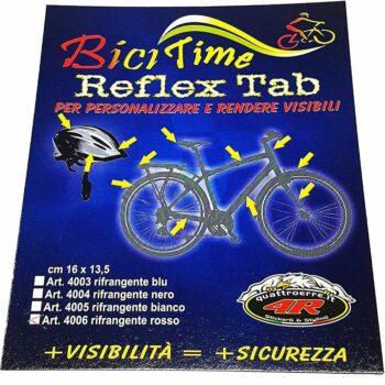 Tabella di adesivi rifrangenti per bici, confezione
