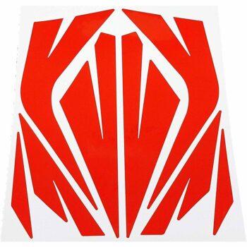 Tabella di adesivi rifrangenti per bici, rosso