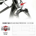 Kit Adesivo Protezione Telaio Bici Trasparente, 9 x 23 cm, Sp. 0,3 mm