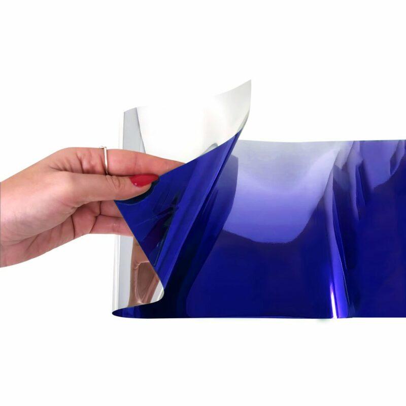 Fascione Parasole Adesivo Sfumato Blu