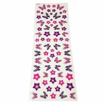 Tabella di adesivi per bici fiori e farfalle