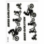 Stickers-Evolution-Biker-Cross-10x12cm-6340