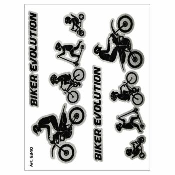 Adesivo supersagomato Evolution Biker Cross