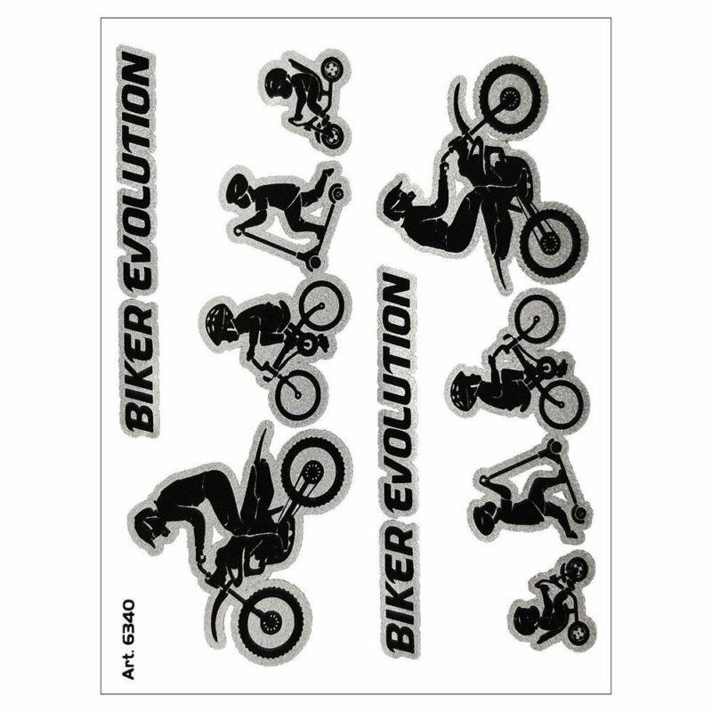 Adesivo supersagomato Evolution Biker Cross