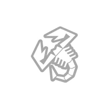 adesivo abarth scorpione trasparente con bordo argento