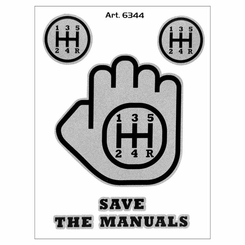 Adesivo supersagomato Save The Manuals