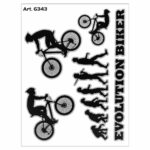 Adesivo supersagomato Evolution Biker