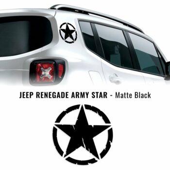 Adesivo stella army nero opaco