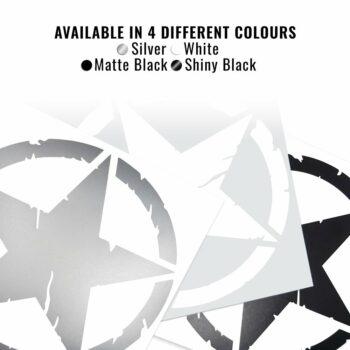Adesivo stella army varianti cromatiche