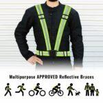 Bretelle rifrangenti omologate per moto bici e altro