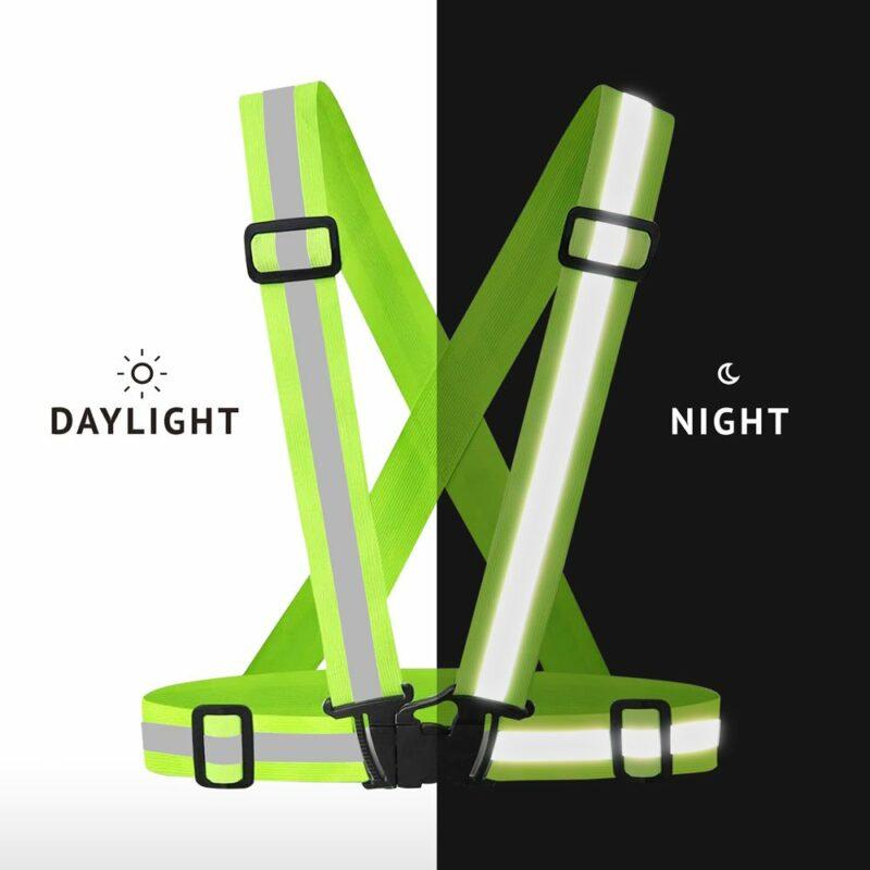Bretelle rifrangenti omologate, uso giorno e notte