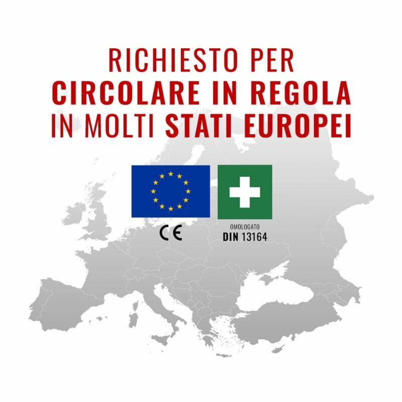 richiesto per circolare in regola in molti stati europei