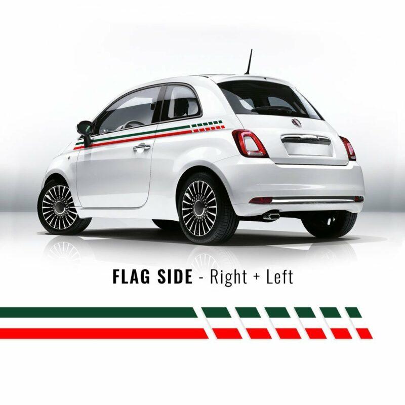 Kit carrozzeria 500 fascia tricolore Italia per fiancate