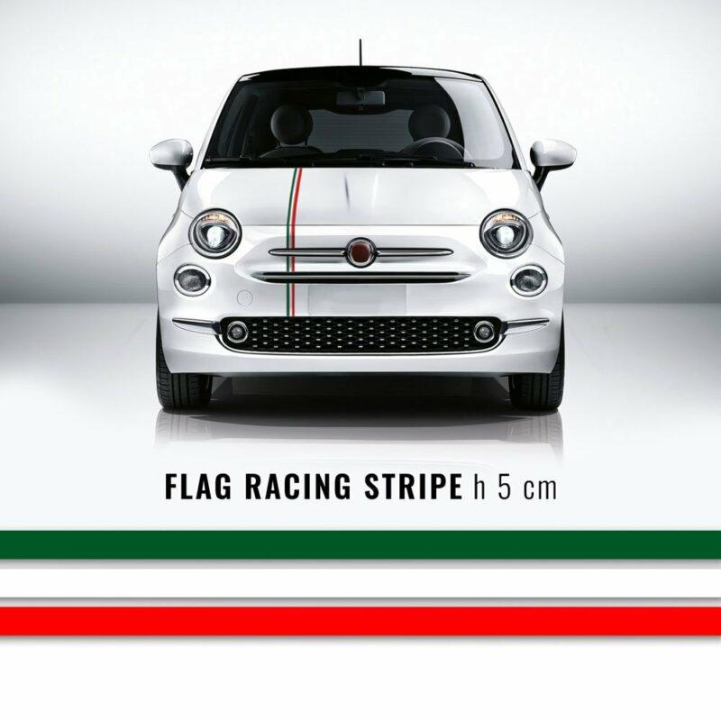 Strisce adesive per auto tricolore Italia 50 mm