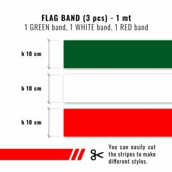 Strisce adesive componibili tricolore Italia dimensioni strisce
