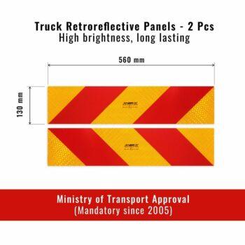 Pannelli Prismatici Riflettenti per Autocarro Dimensioni
