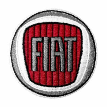 Toppa patch logo Fiat 60 mm