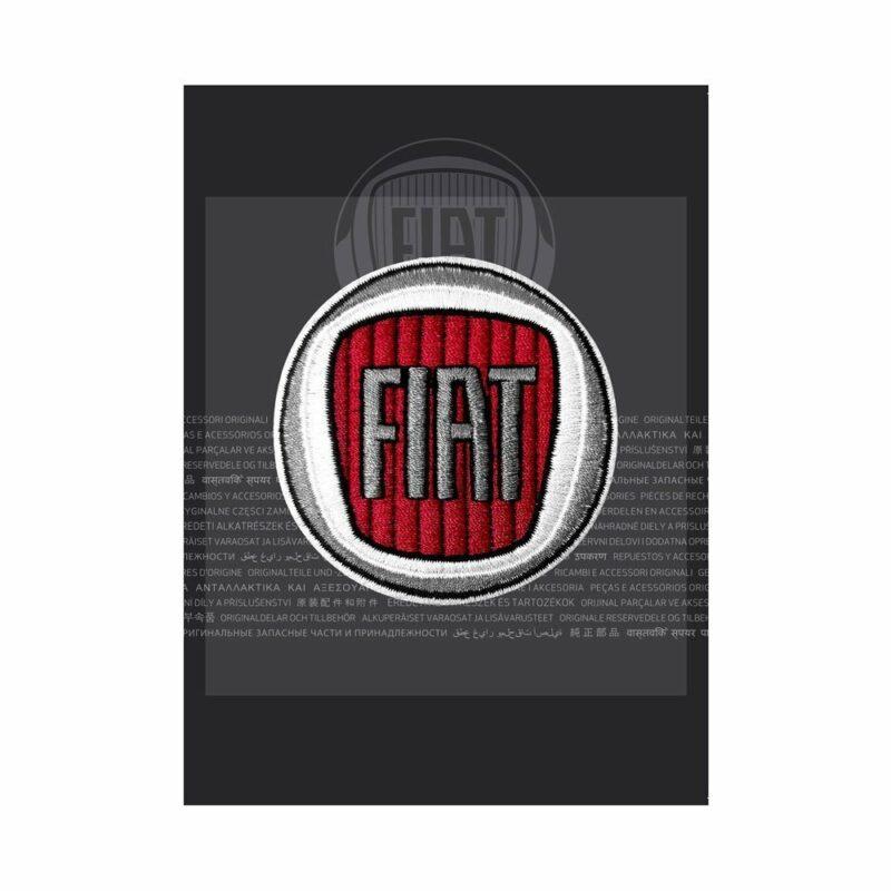 Confezione toppa patch logo Fiat 60 mm