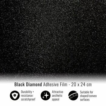 Pellicola adesiva per wrapping black diamond 20x24