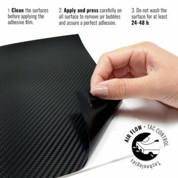 Pellicola adesiva per wraping carbonio 3M istruzioni