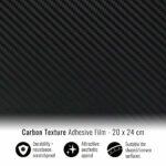 Pellicola adesiva per wrapping carbonio 20x24