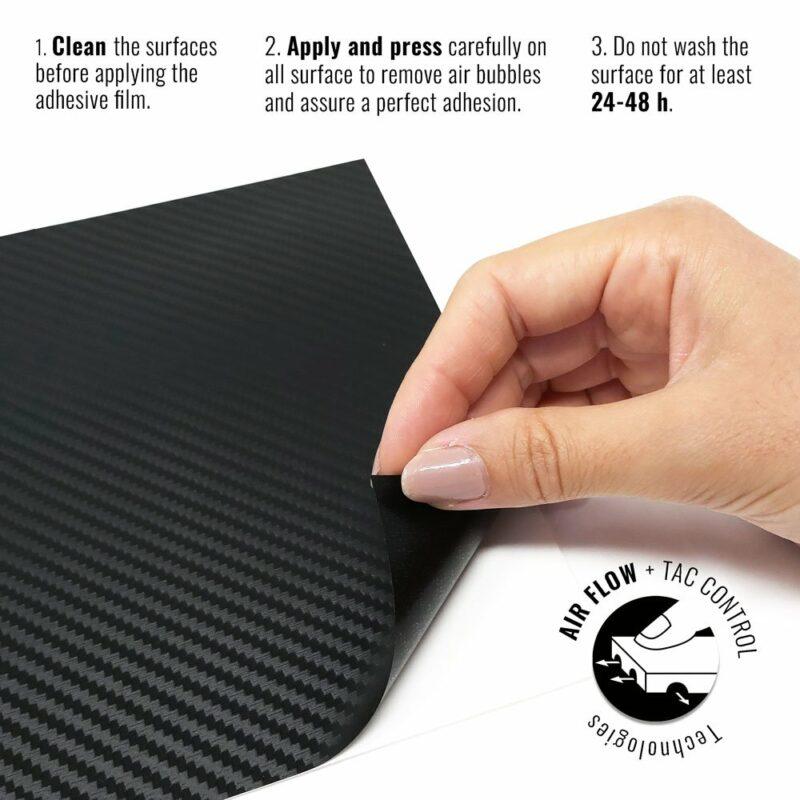 Pellicola adesiva per wrapping carbonio istruzioni