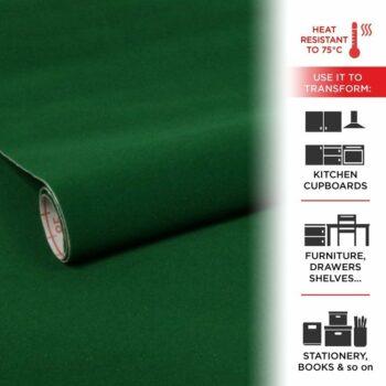 pellicola adesiva effetto velluto verde