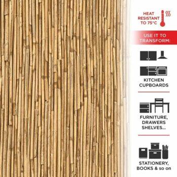 pellicola adesiva effetto bamboo