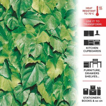 pellicola adesiva effetto foglie