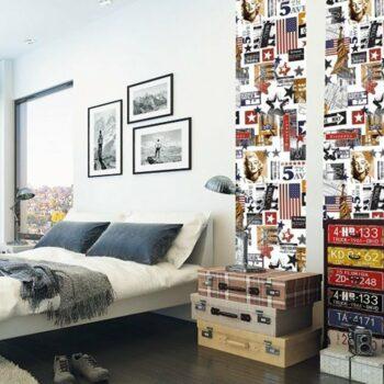 pellicola adesiva effetto Ladysmith esempio aplicazione per poter personalizzare la propria casa con tipici simboli americani