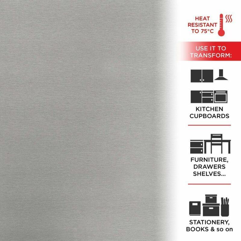 pellicola adesiva casa metallic brush