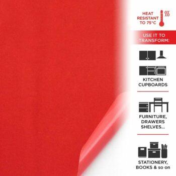 pellicola adesica effetto velluto rosso