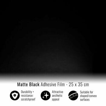 Pellicola adesiva per wrapping nero opaco 25x35