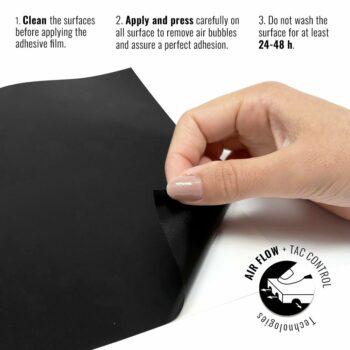 Pellicola adesiva per wrapping nero opaco istruzioni