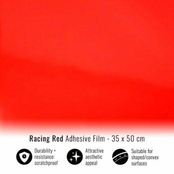 Pellicola adesiva per wrapping rosso corse 35x50
