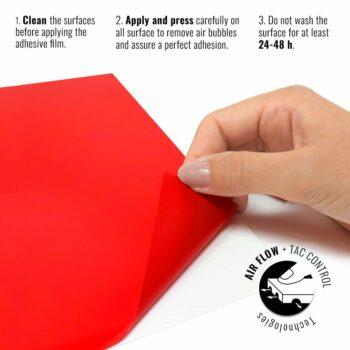 Pellicola adesiva per wrapping rosso corse istruzioni