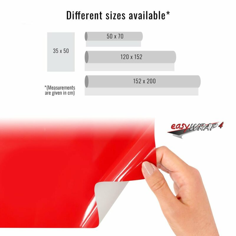 Pellicola adesiva per wrapping rosso corse dimensioni